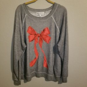 Wildfox I'm The Present Red Bow Pullover Sweater
